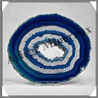 AGATE BLEUE - Tranche Fine - 135x110 mm - 158 grammes - Taille 5 - C003